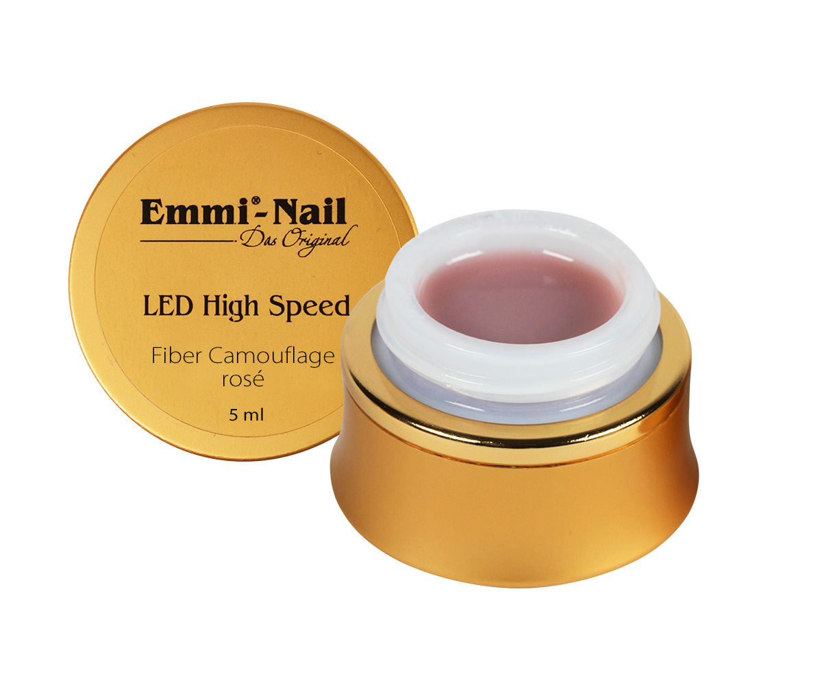 Led High Speed Fiber Camouflage Gel Rose, 5 ml