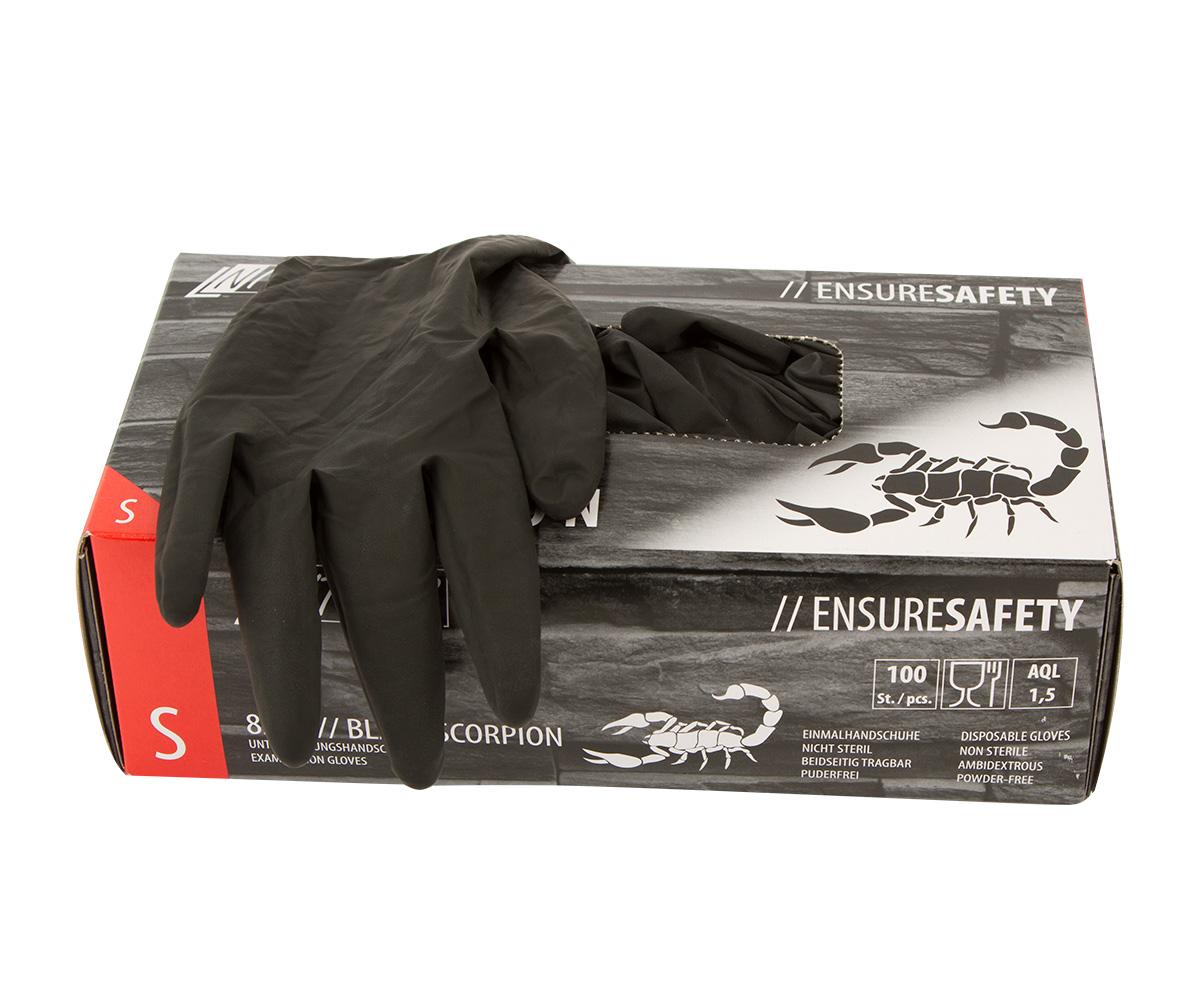Nitras Latex handschoen Black Scorpion, maat M