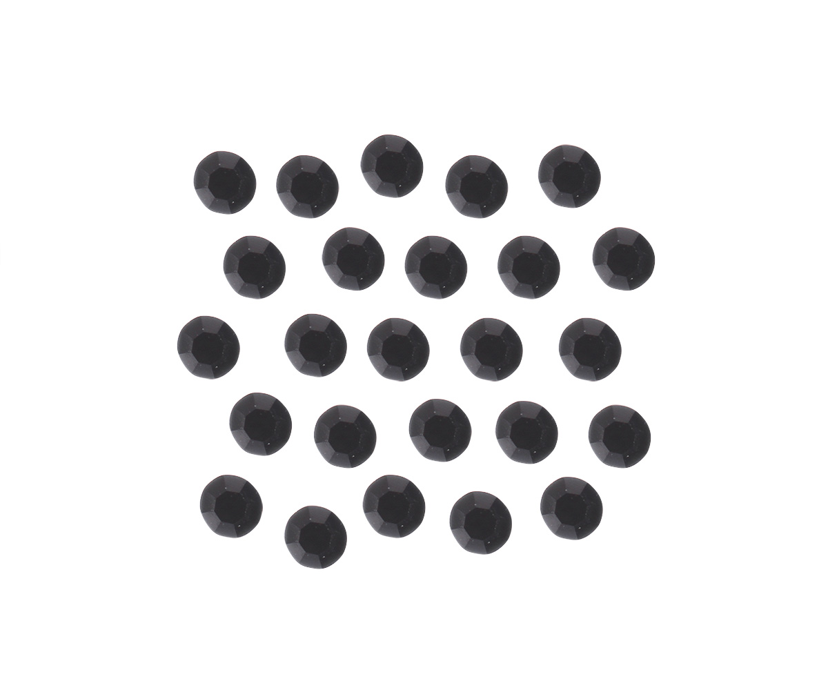 Swarovski Crystal SS3 Black, 50 stuks