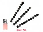 Emmi-Nail Strasstenen Rond Black, 2 mm