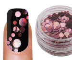 Emmi-Nail Pailletten Mix Rose Glitter