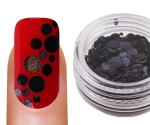 Emmi-Nail Pailletten Mix Black Glitter