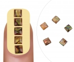 Nailart gem Opal square