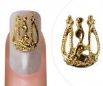 Nail Charm Vintage Style Goud Klein