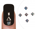 Nailart gem Tansanit square