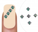 Nailart gem Smaragd square