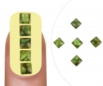 Nailart gem Jade square