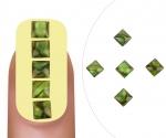 Nailart gem Jade square