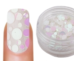 Emmi-Nail Pailletten Mix White Glitter