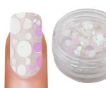 Emmi-Nail Pailletten Mix White Glitter