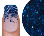 Emmi-Nail Glitter Mix Blauw