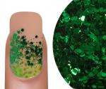 Emmi-Nail Glitter Mix Donkergroen